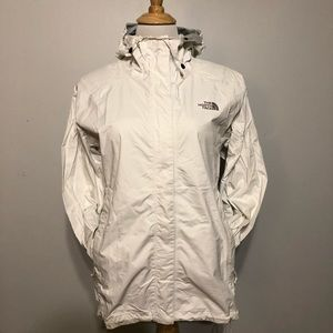 White Venture Northface Hooded Jacket -Size Medium